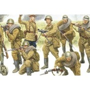 """Набор оловянных солдатиков """"Великая Отечественная война Русские"""" №3 (5 штук)"""