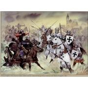 """Набор оловянных солдатиков """"Германские рыцари и воины"""" пк/п1 в подарочной коробке (23 шт)"""