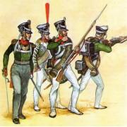 """Набор оловянных солдатиков """"Русские 1812 года"""" пк/п2 в подарочной коробке (5 шт)"""