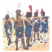 """Набор оловянных солдатиков """"Французы 1812 года"""" пк/п2 в подарочной коробке (5 шт)"""