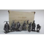 Набор оловянных солдатиков Кельты н/к в фанерной коробке (7 шт)