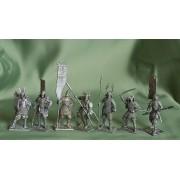 Набор оловянных солдатиков самураи н/к в подарочной коробке (20 шт)