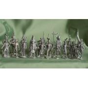 Набор оловянных солдатиков Французы 1812 года №1 н/к (30 шт)
