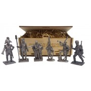 Набор оловянных солдатиков Русские 1812 года н/к в подарочной коробке (6 шт)