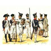 Набор оловянных солдатиков Наполеоновские войны н/к в подарочной коробке (40 шт)