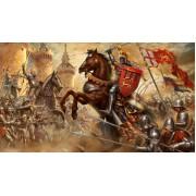 Набор оловянных солдатиков Английские средневековые рыцари  и воины н/к в подарочной коробке (9 шт.)