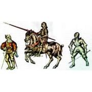 Набор оловянных солдатиков Швейцарские средневековые рыцари и воины  н/к в подарочной коробке (9 шт)