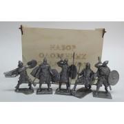 Набор оловянных солдатиков Викинги  №3 н/к в фанерной коробке (5 шт)