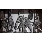 Набор оловянных солдатиков Асигару №3 н/к в подарочной коробке (5 шт)