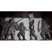 Набор оловянных солдатиков Самураи  №4 н/к в подарочной коробке (5 шт)