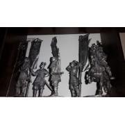 Набор оловянных солдатиков Самураи  №5 н/к в подарочной коробке (5 шт)