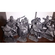 Набор оловянных солдатиков Русские воины №8 н/к (24 шт)