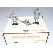 Набор оловянных солдатиков Полковая артиллерия 1709 г с мортирой н/к в подарочной коробке (3 шт)