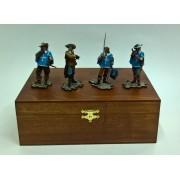 """Набор """"Четыре Мушкетера"""" в деревянной коробке (4п1)"""