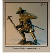 Германия Рыцарь с Вархаммером 14 век Г63 ТС (н/к)