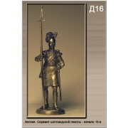 Англия. Сержант шотландской пехоты Начало 19 века Д16 ТС (н/к)