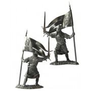 Русский дружинник-знаменосец, 13 век 5126 ПБ (н/к)