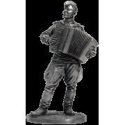 Лейтенант Красной Армии с аккордеоном 1944-45 гг. СССР WWII-18 EK (н/к)