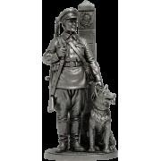 Младший сержант Пограничных войск НКВД с собакой, 1941 г. СССР WWII-23 EK (н/к)
