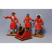 НВн-07 Русская полковая артиллерия  1708 год 54 мм EP