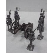 Набор оловянных солдатиков Французская артиллерия 1812 г в подарочной коробке (6 шт)