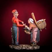 Русские казаки в Париже. Казак и торговка рыбой 1814 год К-01