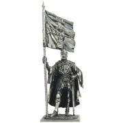 Тевтонский рыцарь со знаменем Ордена, 1400 год М129 ЕК (н/к)