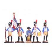 """Набор оловянных солдатиков """"Наполеон и его солдаты""""  с/п"""