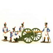 """Набор оловянных солдатиков """"Пушечный расчет французской армии 1812 года""""  с/п"""