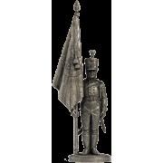 Подпрапорщик Псковского мушкетерского полка с полковым знаменем. Россия, 1803-06 гг. NAP-22 EK (н/к)