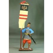 Японский воин-знаменосец, 14 век М143 EK (с)