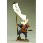 Японский воин-монах с флагом, 1185 год М183 EK (с)