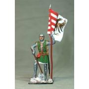 Немецкий пехотинец со знаменем, 14 век M166 EK (с)
