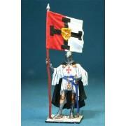 Тевтонский рыцарь со знаменем Ордена, 1400 год М129 ЕК (с)