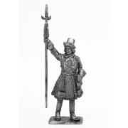 Офицер артиллерийской роты новоприборных полков в венгерском кафтане 1700 год 698 РТ